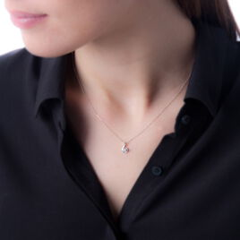 Collier Vrille Accompagnee Or Blanc Diamant - Bijoux Femme | Histoire d'Or