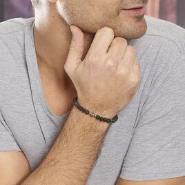 Bracelet Hugues Acier Blanc Agate - Bracelets fantaisie Homme | Histoire d'Or