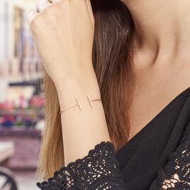 Bracelet Argent Rose Jonc Ouvert - Bracelets fantaisie Femme | Histoire d'Or