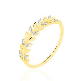 Bague Emeralda Or Jaune Diamant - Bagues Plume Femme | Histoire d'Or