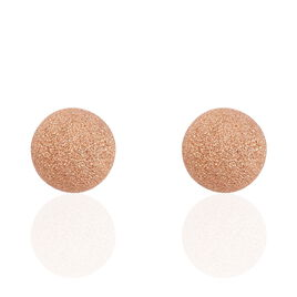 Boucles D'oreilles Puces Martina Argent Rose - Boucles d'oreilles fantaisie Femme | Histoire d'Or