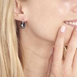 Boucles D'oreilles Pendantes Hattie Argent Céramique Et Oxyde - Boucles d'oreilles fantaisie Femme | Histoire d'Or