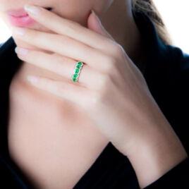 Bague Margaux Or Jaune Emeraude Et Diamant - Bagues avec pierre Femme   Histoire d'Or