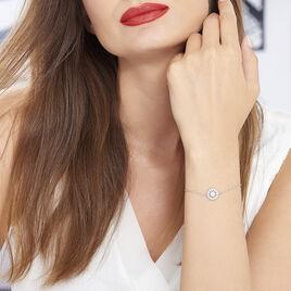 Bracelet Hyelana Argent Blanc Oxyde De Zirconium - Bracelets fantaisie Femme   Histoire d'Or