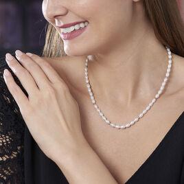 Collier Billes Or Jaune Perle De Culture - Bijoux Femme | Histoire d'Or
