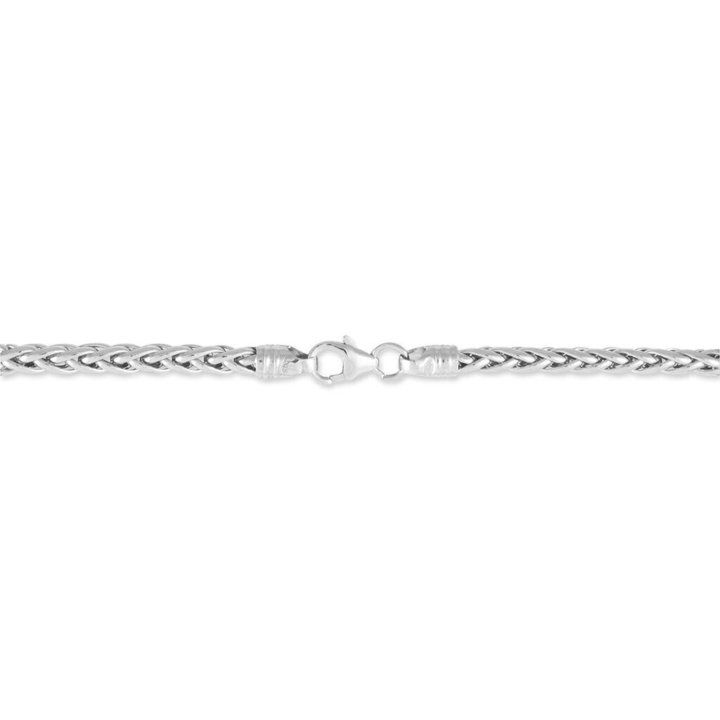 Bracelet Jayna Maille Palmier Or Blanc - Bracelets chaîne Femme | Histoire d'Or