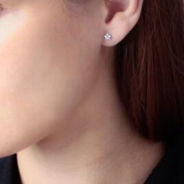 Boucles D'oreilles Or Jaune Etoile Oxydes - Boucles d'Oreilles Etoile Femme   Histoire d'Or