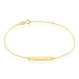 Bracelet Fania Message Or Jaune Oxyde De Zirconium - Gourmettes Femme | Histoire d'Or