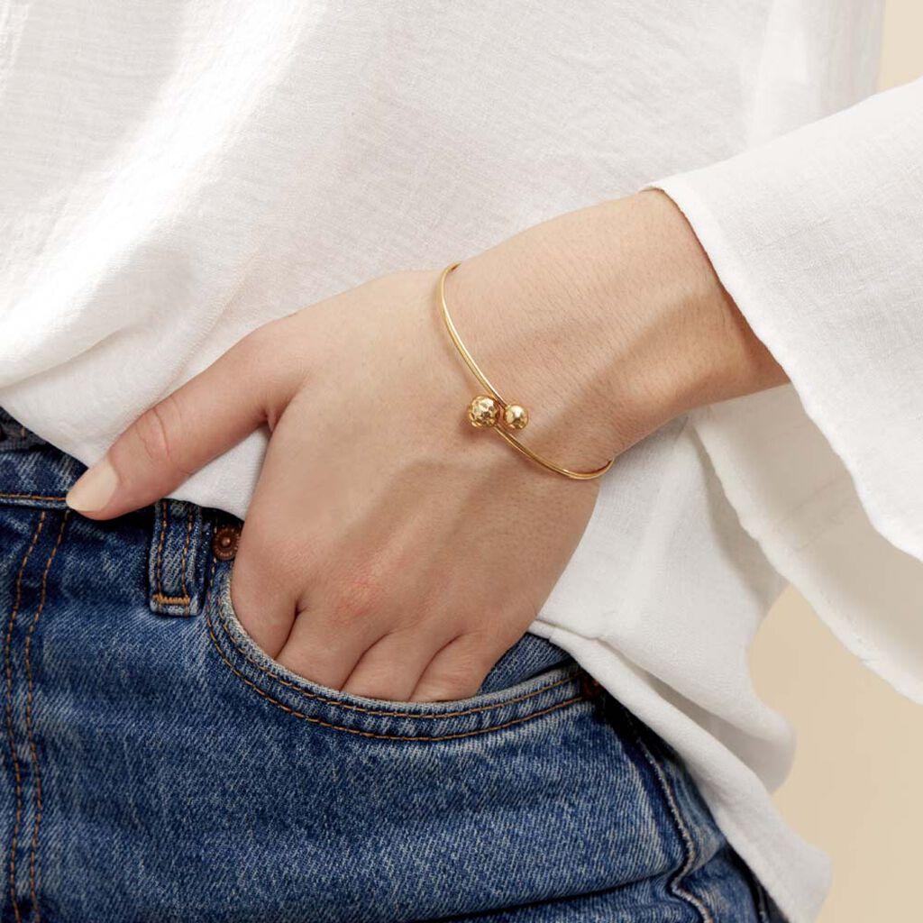 Bracelet Jonc Clemmie Or Jaune - Bracelets joncs Femme   Histoire d'Or
