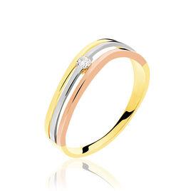 Bague Solitaire Orlena Or Tricolore Diamant - Bagues solitaires Femme | Histoire d'Or