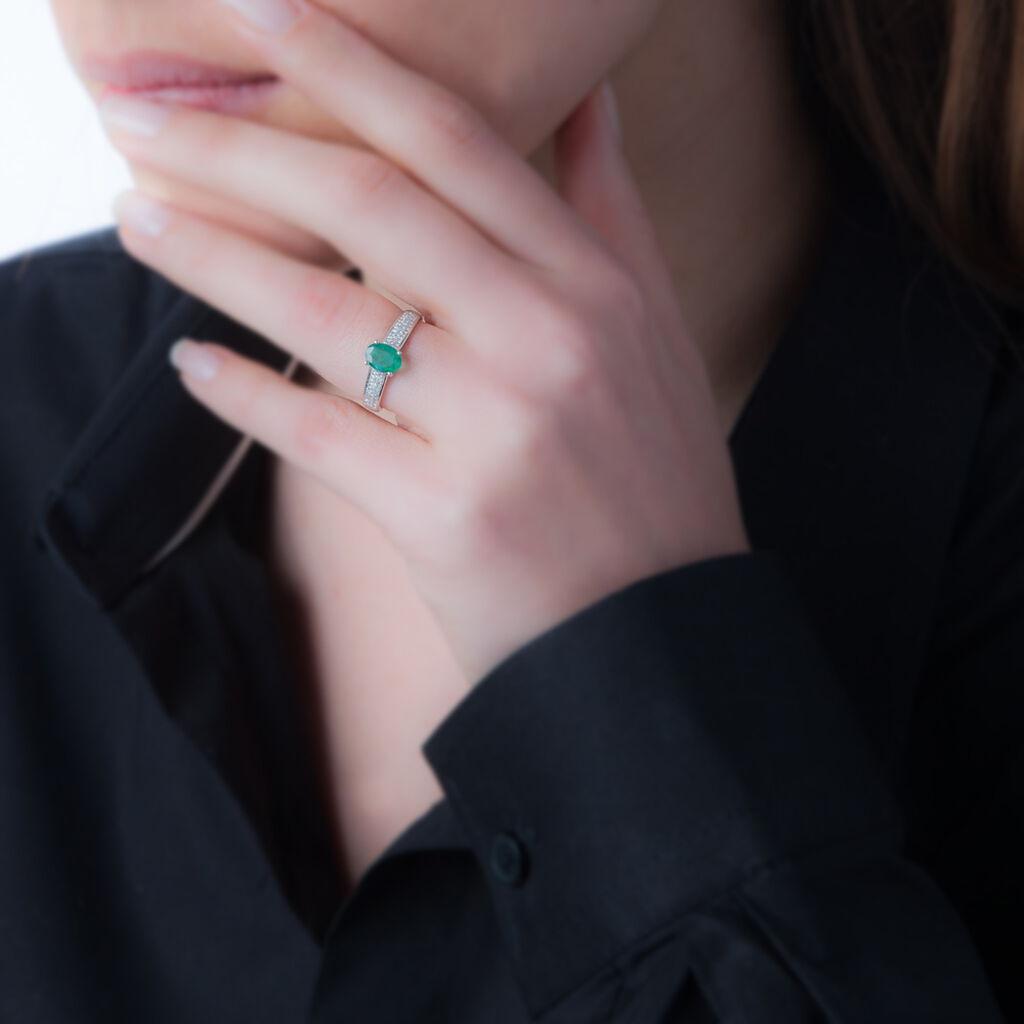 Bague Crista Or Blanc Amethyste Et Diamant - Bagues avec pierre Femme | Histoire d'Or