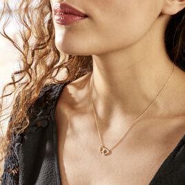 Collier Bassam Or Jaune Oxydes De Zirconium - Colliers Coeur Femme | Histoire d'Or