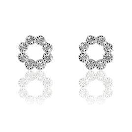 Boucles D'oreilles Pendantes Nostra Argent Blanc Oxyde De Zirconium - Boucles d'oreilles fantaisie Femme   Histoire d'Or