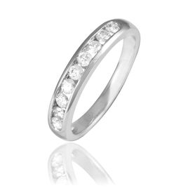 Alliance Giulia Or Blanc Diamant - Alliances Femme | Histoire d'Or