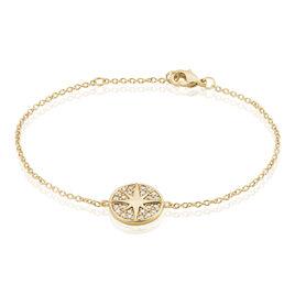 Bracelet Maria-carmen Plaque Or Jaune Oxyde De Zirconium - Bijoux Etoile Femme | Histoire d'Or