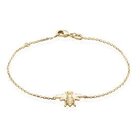 Bracelet Abdelia Plaque Or Jaune - Bracelets fantaisie Femme | Histoire d'Or