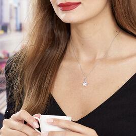 Collier Amantine Argent Blanc Oxyde De Zirconium - Colliers fantaisie Femme   Histoire d'Or