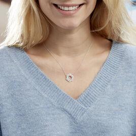 Collier Elvera Argent Blanc Oxyde De Zirconium - Colliers fantaisie Femme | Histoire d'Or