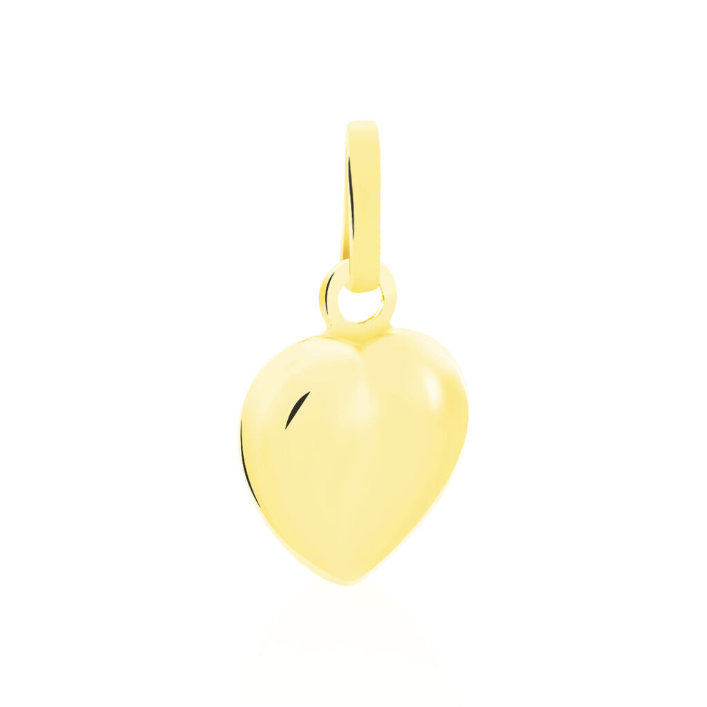 Pendentif Eudocie Coeur Lisse Or Jaune - Pendentifs Coeur Unisex   Histoire d'Or
