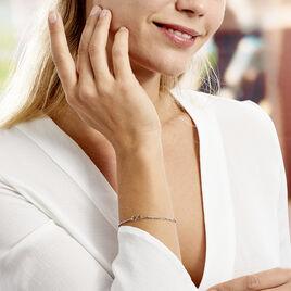 Bracelet Enoah Argent Blanc - Bracelets Infini Femme   Histoire d'Or