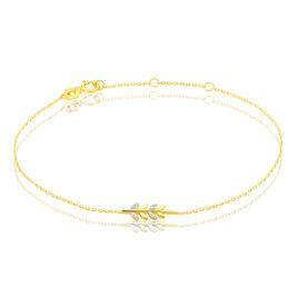Bracelet Emeralda Or Jaune Diamant - Bracelets Plume Femme | Histoire d'Or