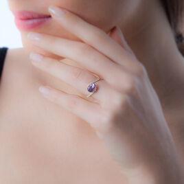 Bague Loriane Or Jaune Amethyste Et Oxyde De Zirconium - Bagues solitaires Femme | Histoire d'Or