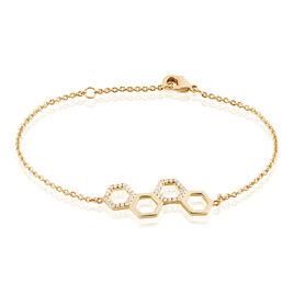 Bracelet Maria-lourdes Plaque Or Jaune Oxyde De Zirconium - Bracelets fantaisie Femme   Histoire d'Or