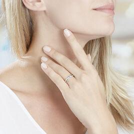 Bague Bertheline Argent Blanc Oxyde De Zirconium - Bagues solitaires Femme | Histoire d'Or