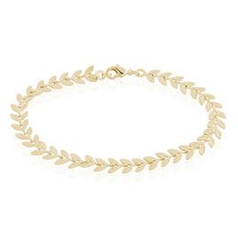 Bracelet Plaqué Or Jaune Jay - Bracelets Plume Femme | Histoire d'Or