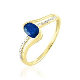 Bague Anja Or Jaune Saphir Et Diamant - Bagues solitaires Femme | Histoire d'Or