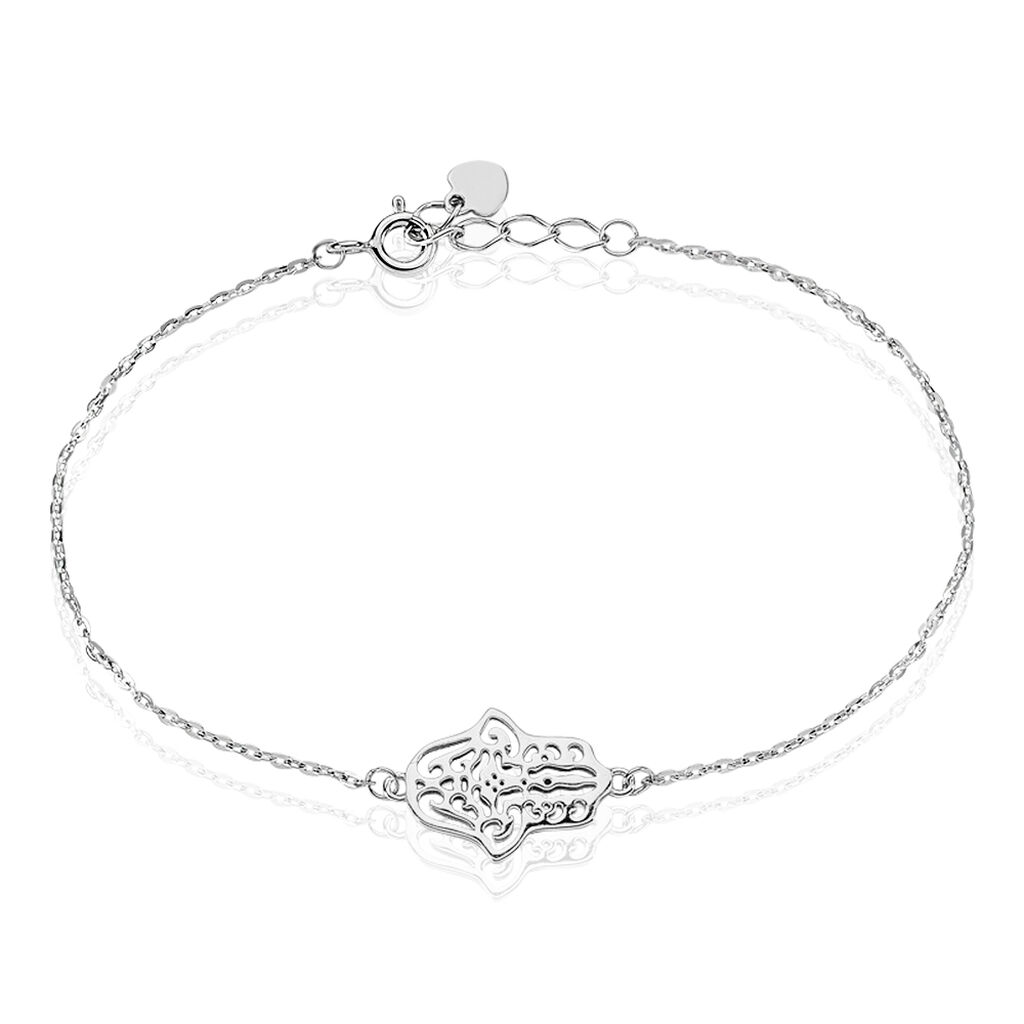 Bracelet Sarah Argent Blanc - Bracelets Main de Fatma Femme | Histoire d'Or