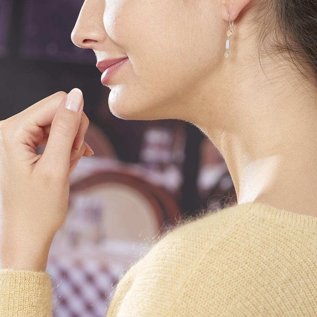 Boucles D'oreilles Pendantes Wassyla Or Jaune Oxyde De Zirconium - Boucles d'oreilles pendantes Femme | Histoire d'Or
