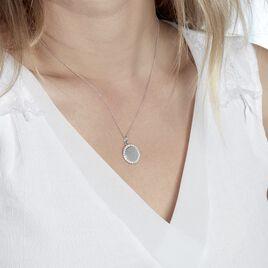 Collier Corazon1 Argent Blanc Oxyde De Zirconium - Colliers fantaisie Femme | Histoire d'Or