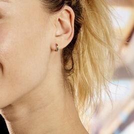 Creoles Andgelina Or Jaune Oxydes De Zirconium - Boucles d'oreilles créoles Femme   Histoire d'Or