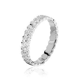 Alliance Dentelle 2 Rangs Diamantee Or Blanc - Alliances Femme   Histoire d'Or