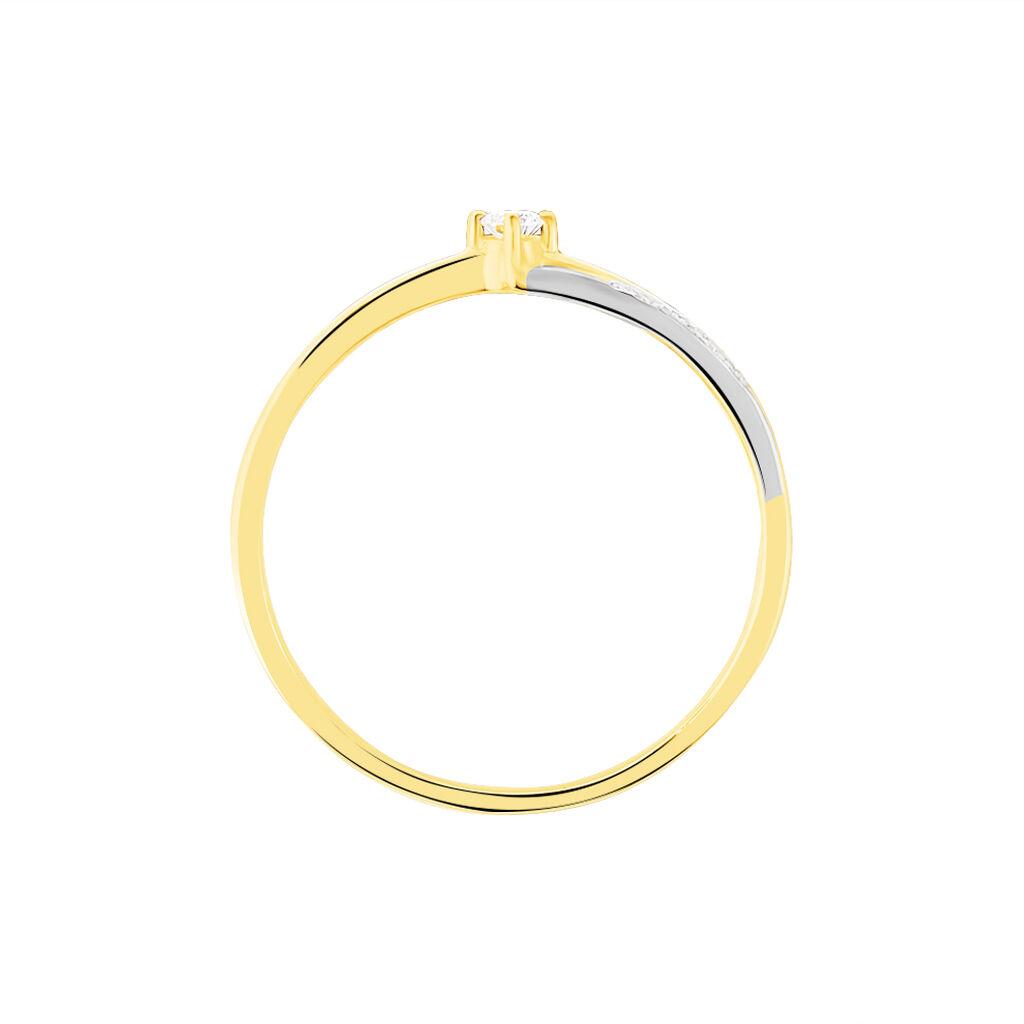 Bague Selene Or Bicolore Diamant - Bagues solitaires Femme | Histoire d'Or