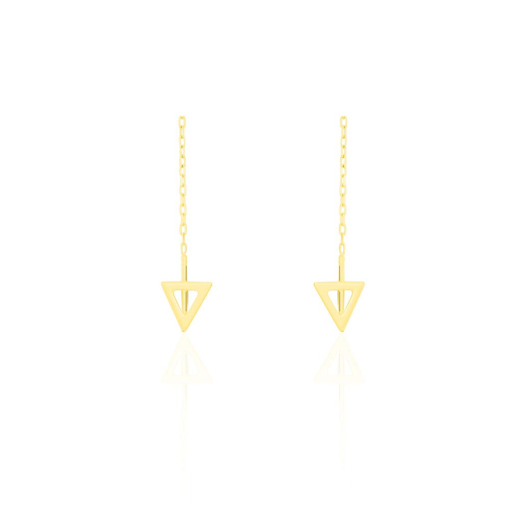 Boucles D'oreilles Pendantes Yassina Or Jaune - Boucles d'oreilles pendantes Femme | Histoire d'Or