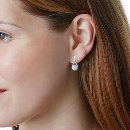 Boucles D'oreilles Puces Elisabeth Or Jaune Diamant Et Saphir - Clous d'oreilles Femme | Histoire d'Or