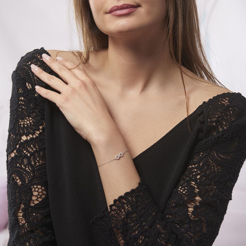 Bracelet Lou Argent Blanc Oxyde De Zirconium - Bracelets Infini Femme   Histoire d'Or