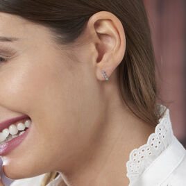 Boucles D'oreilles Pendantes Aryles Argent Blanc Oxyde De Zirconium - Boucles d'oreilles fantaisie Femme | Histoire d'Or