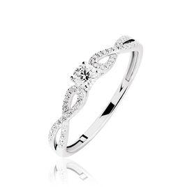 Bague Solitaire Livia Or Blanc Diamant - Bagues avec pierre Femme | Histoire d'Or