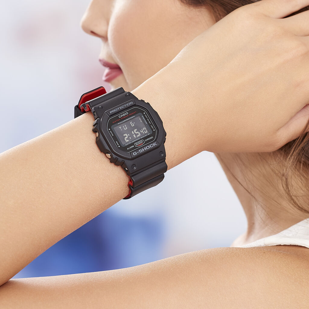Montre Casio G-shock Black & Red Noir - Montres sport Femme | Histoire d'Or