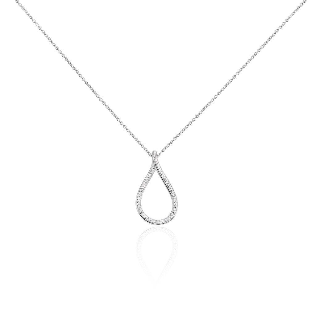 Collier Netta Argent Blanc Oxyde De Zirconium - Colliers fantaisie Femme | Histoire d'Or