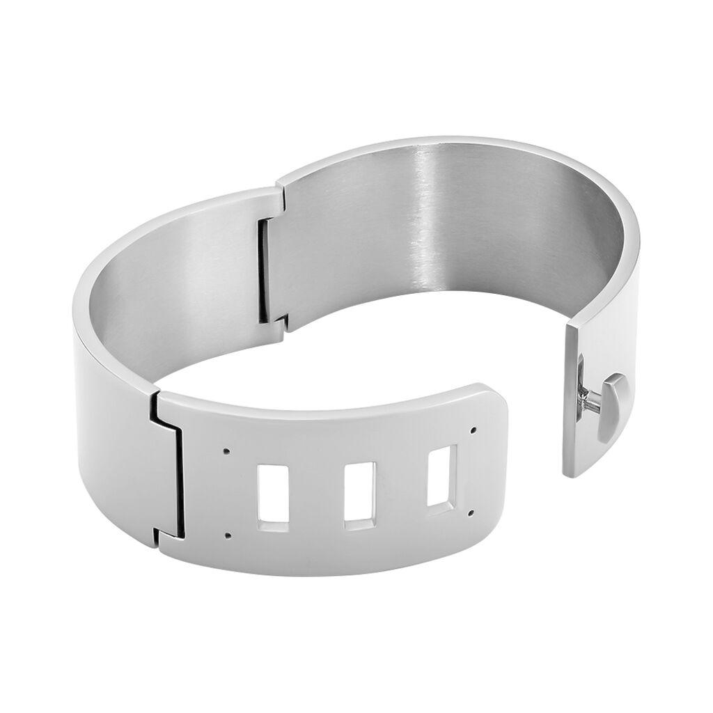 Bracelet Manchette Japon Acier Blanc - Bracelets fantaisie Femme | Histoire d'Or