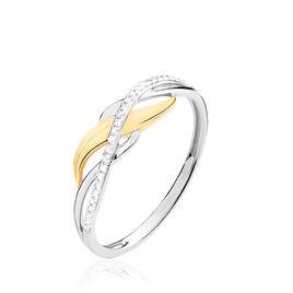 Bague Helène Or Bicolore Et Diamant - Bagues avec pierre Femme | Histoire d'Or
