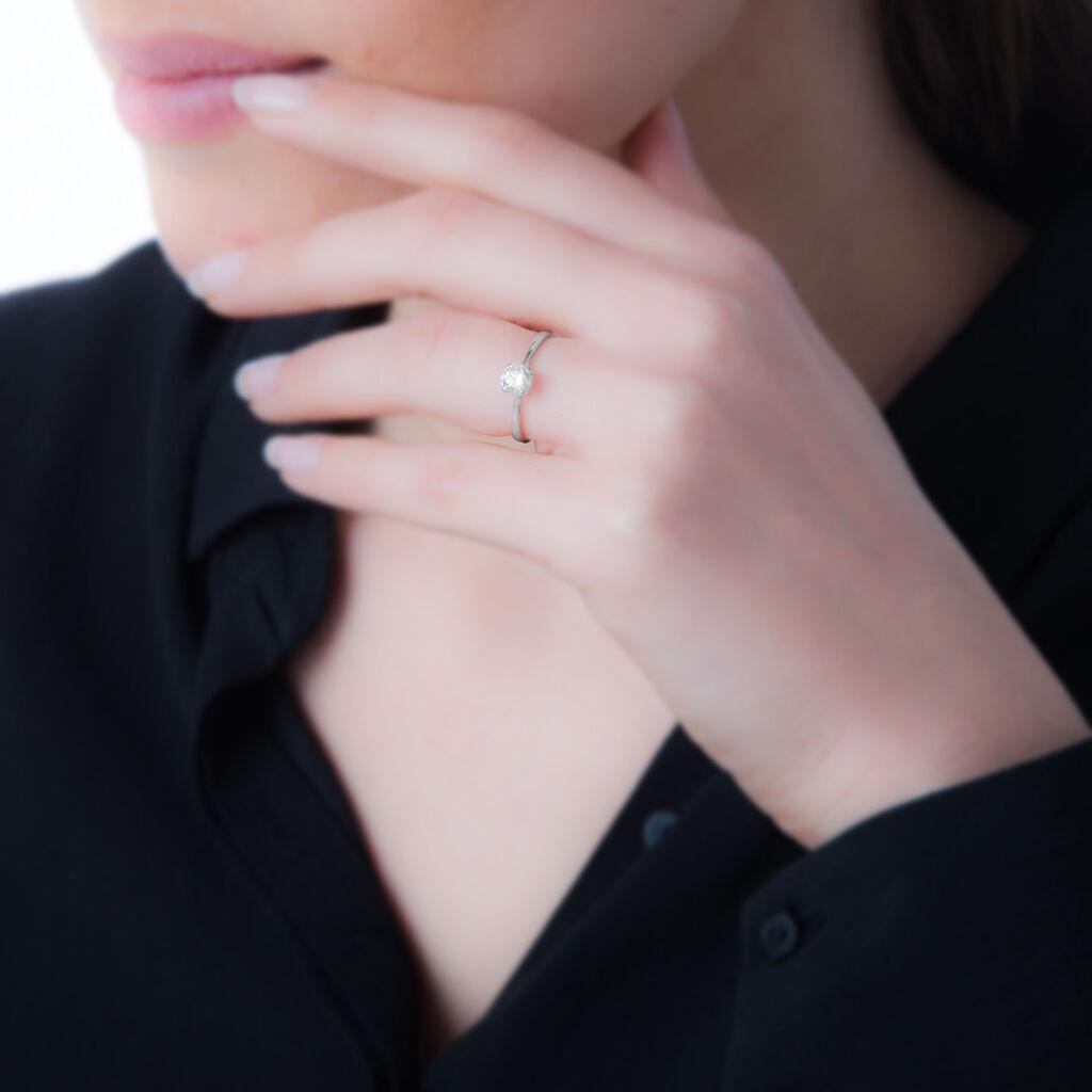 Bague Ornelle Or Blanc Oxyde De Zirconium - Bagues avec pierre Femme   Histoire d'Or