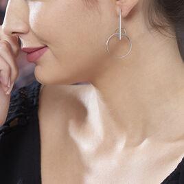 Boucles D'oreilles Pendantes Enissa Argent Blanc - Boucles d'oreilles fantaisie Femme | Histoire d'Or