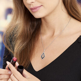 Collier Melissa Argent Blanc Oxyde De Zirconium - Bijoux Femme | Histoire d'Or