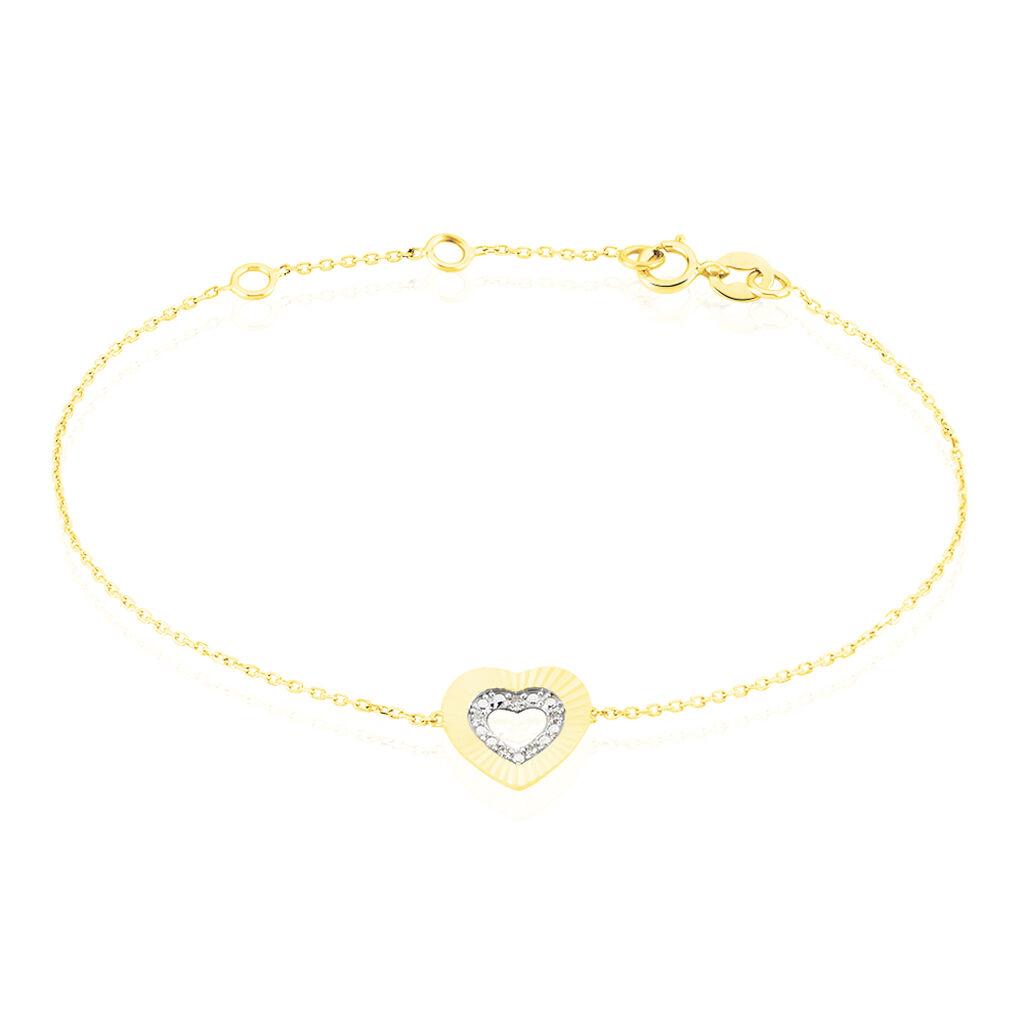 Bracelet Roxy Or Jaune Diamant - Bracelets Coeur Femme   Histoire d'Or