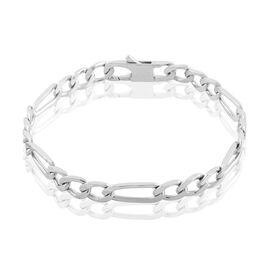 Bracelet Vivian Maille Alternee 1/3 Argent Blanc - Bracelets chaîne Homme   Histoire d'Or